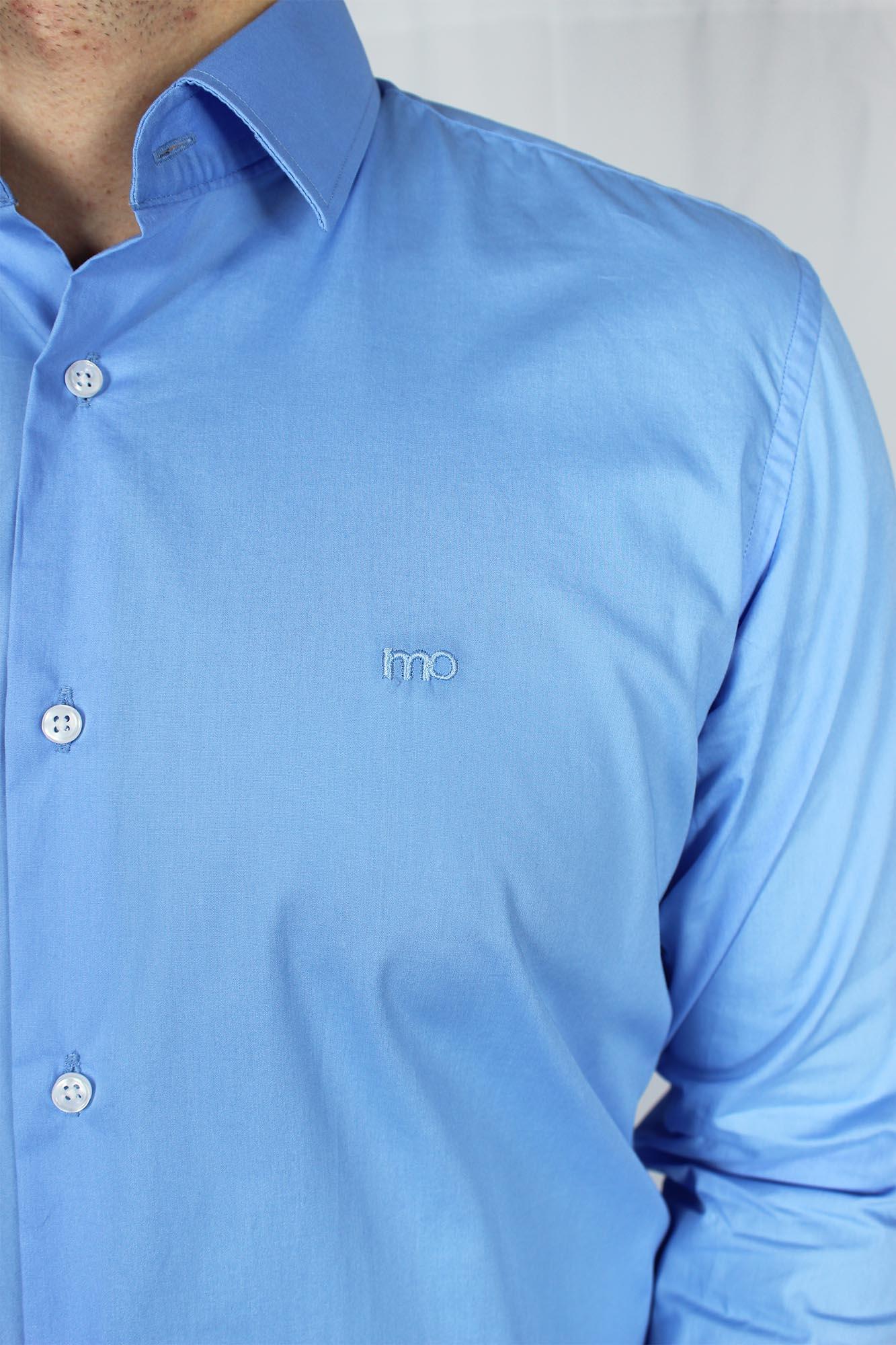 Camisa Social ML Comfort Básica MO Masculina - Azul