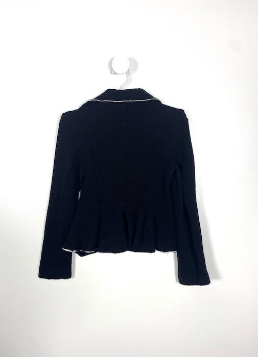 Casaco Preto com Textura Feminino -  Tamanho 42