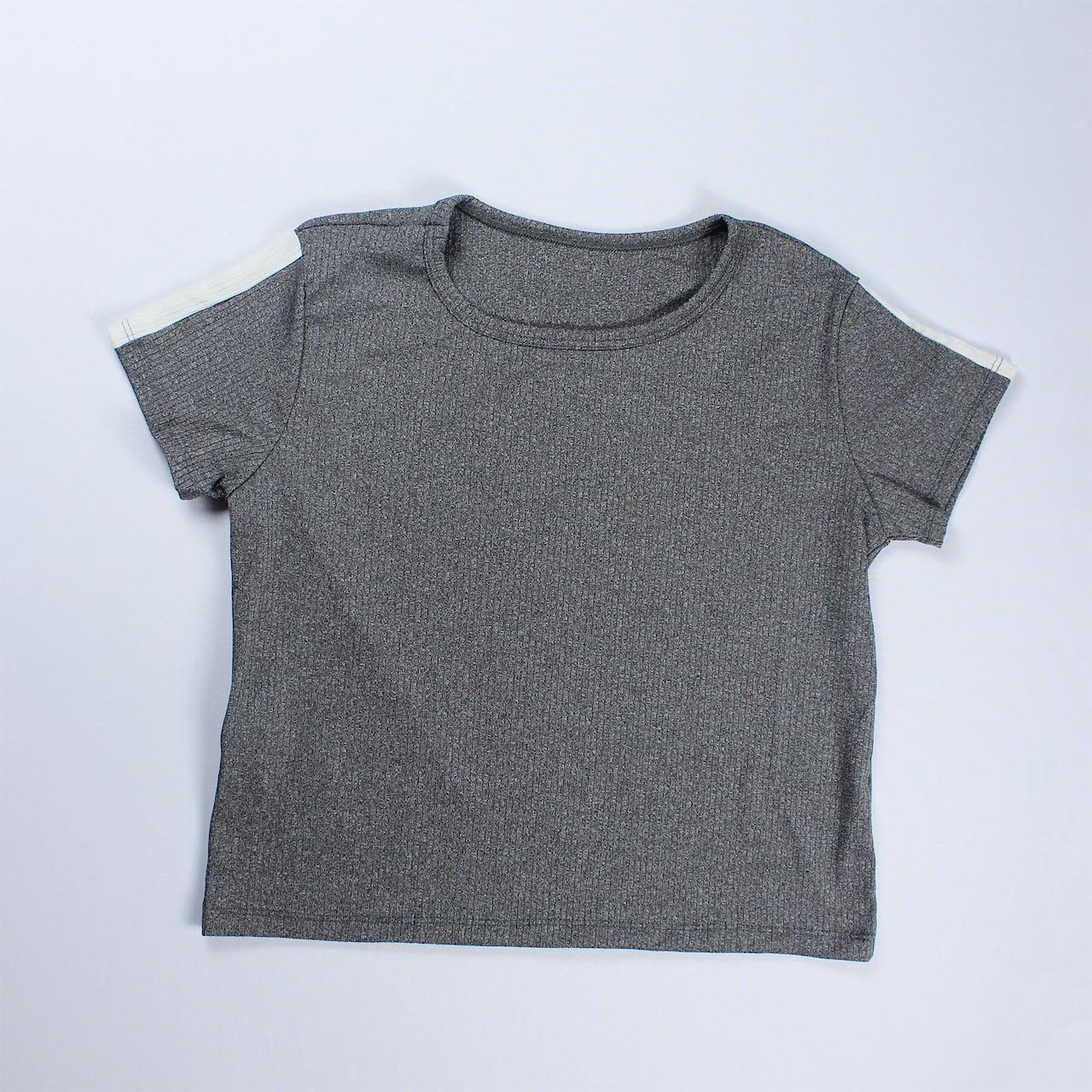 Conjunto Blusa e Calça Detalhe Faixa Feminino - Cinza Escuro