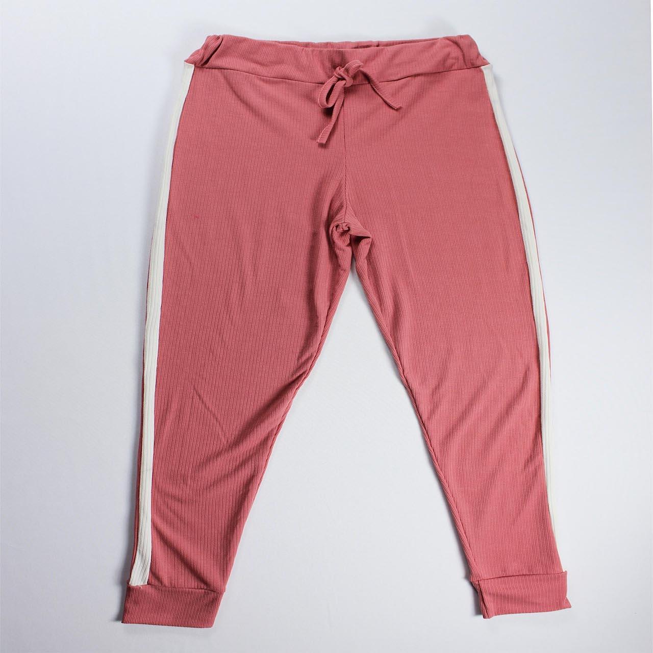 Conjunto Blusa e Calça Detalhe Faixa Feminino - Rosa Claro