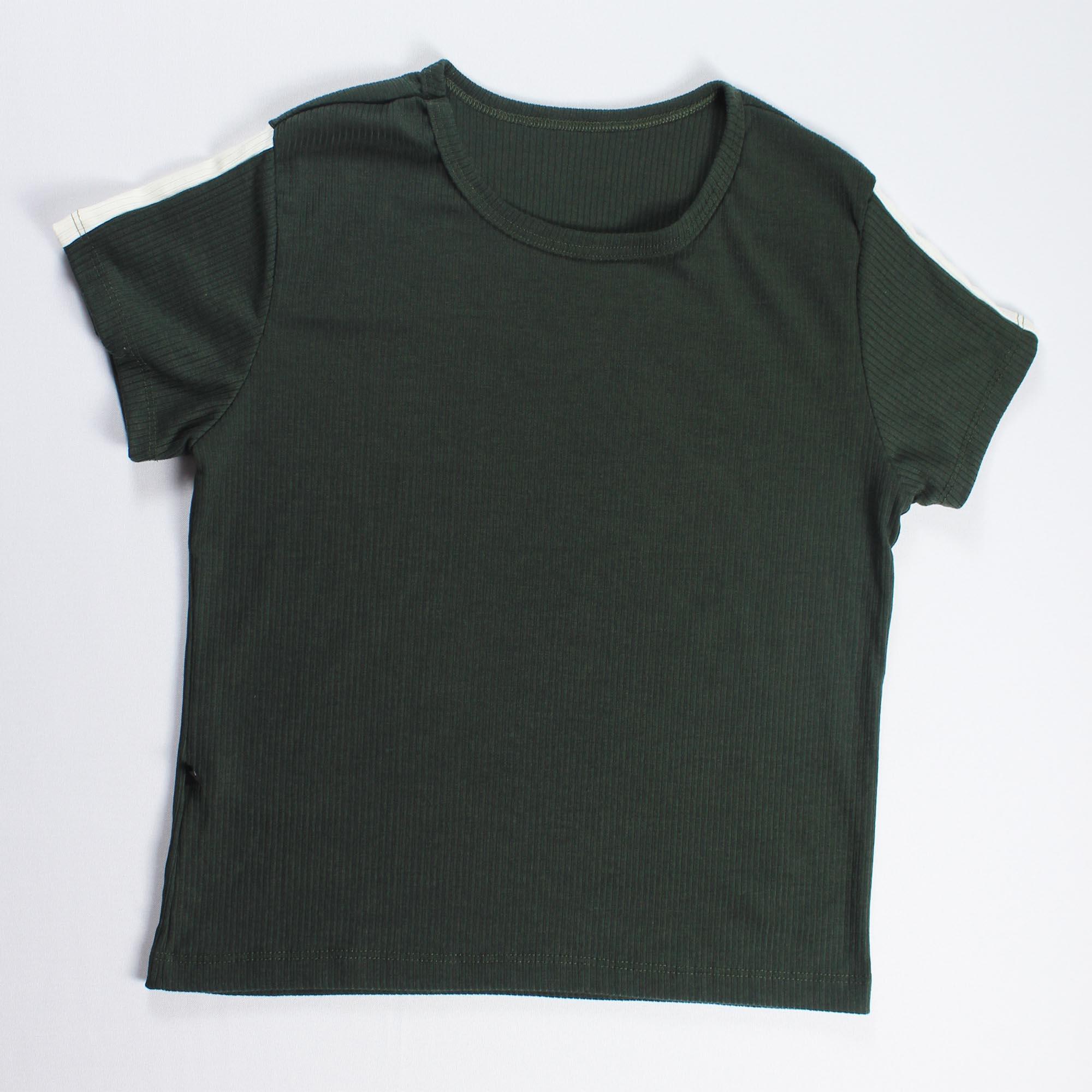 Conjunto Blusa e Calça Detalhe Faixa Feminino - Verde Escuro