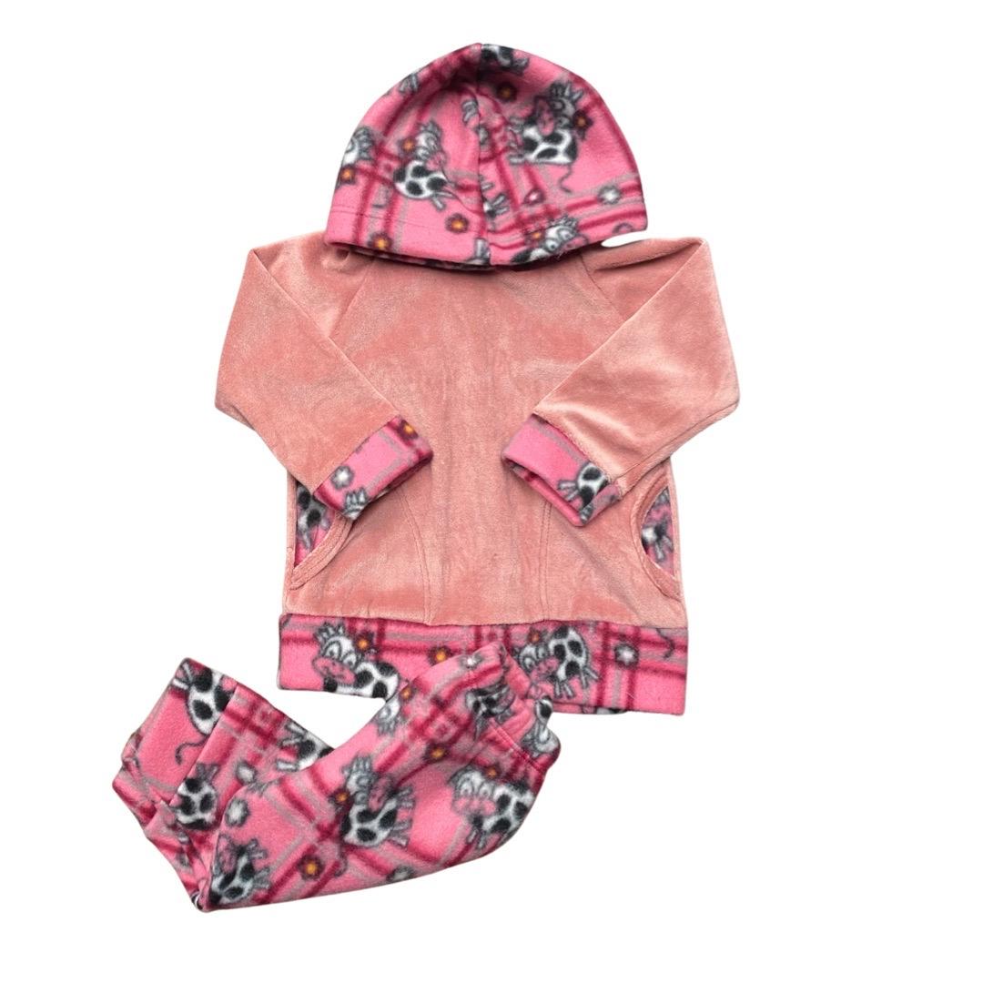 Conjunto de Abrigo Soft Infantil Menina - Tamanho 01 Mês