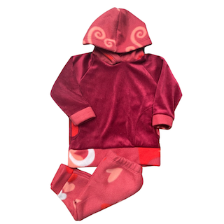 Conjunto de Abrigo Soft Infantil Menina - Tamanho 02 e 03 Meses