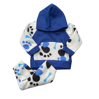 Conjunto de Abrigo Soft Infantil Menino - Tamanho 01 Mês