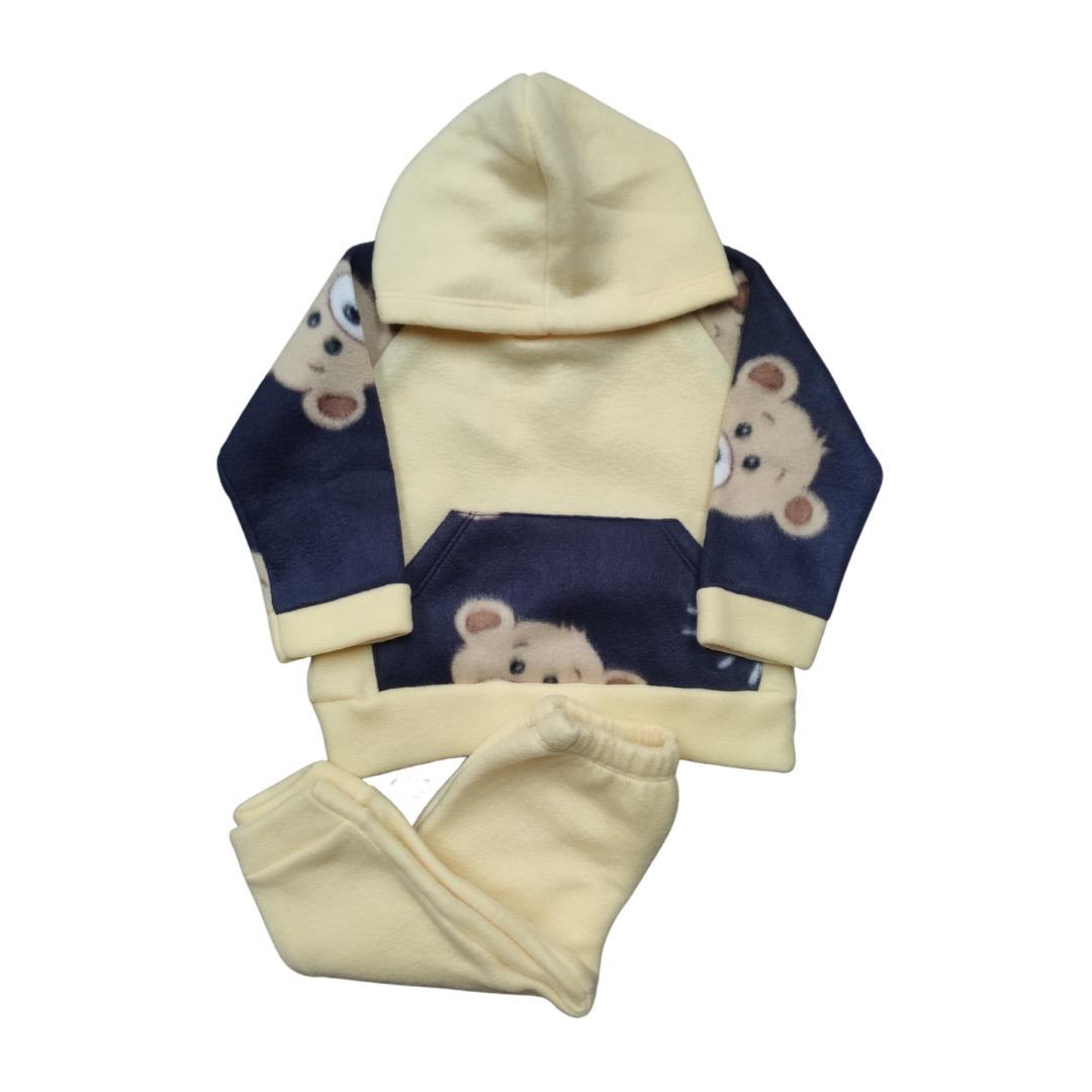 Conjunto de Abrigo Soft Infantil Unissex - Tamanho 03 Meses