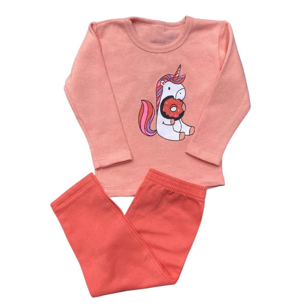 Conjunto Moletom Infantil Menina - Tamanho 1 e 2
