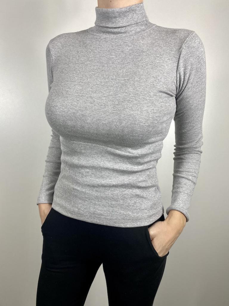 Blusa de Gola Alta Feminina - Tamanho P ao GG