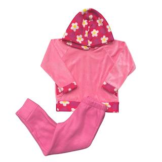 Conjunto de Abrigo Soft Infantil Menina - Tamanho 4 e 6
