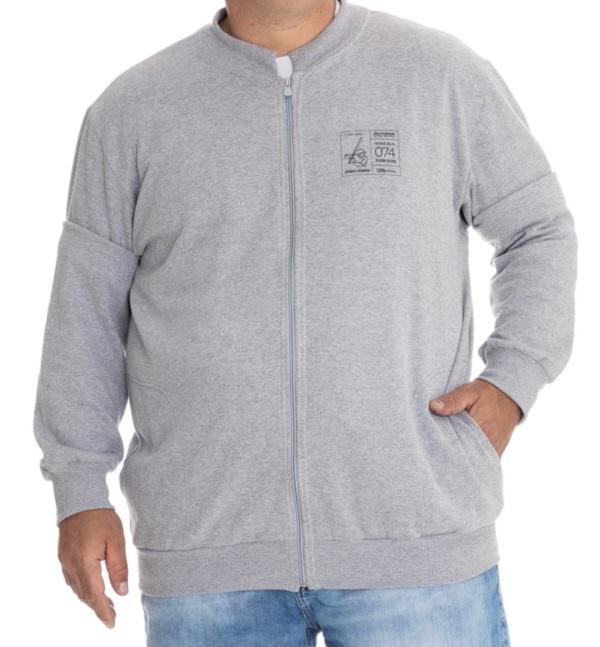 Jaqueta de Moletom Estampada Plus Size Masculina - Tamanho G1 e G3