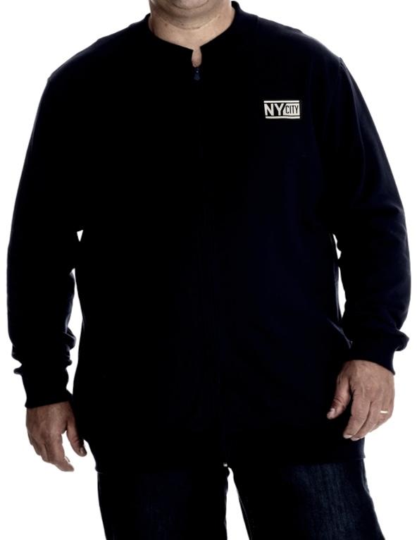 Jaqueta de Moletom Gola Padre Plus Size Masculino - Tamanho G2 e G3