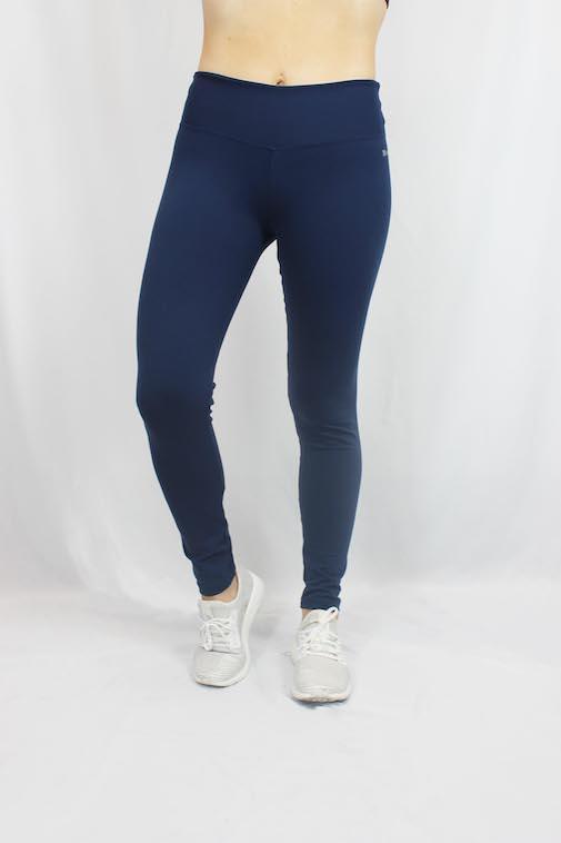 Kit Atacado 6 Calças Leggings Básicas Azul Marinho Feminina Revenda - Tamanhos G1 ao G3