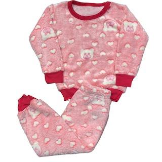 Pijama Conjunto Soft Fleece Infantil Menina - Tamanho 1 e 3