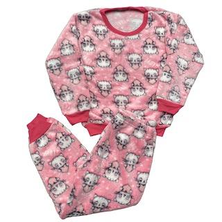 Pijama Conjunto Soft Fleece Infantil Menina - Tamanho 6 e 8