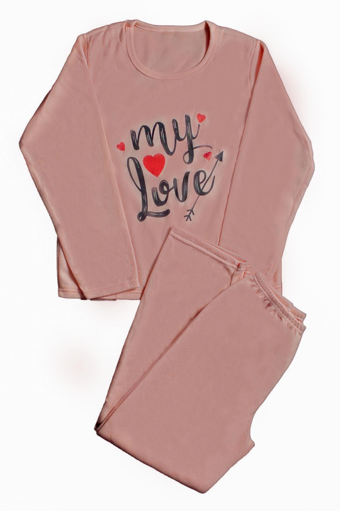 Pijama de Soft Feminino - Tamanho G2 e G3