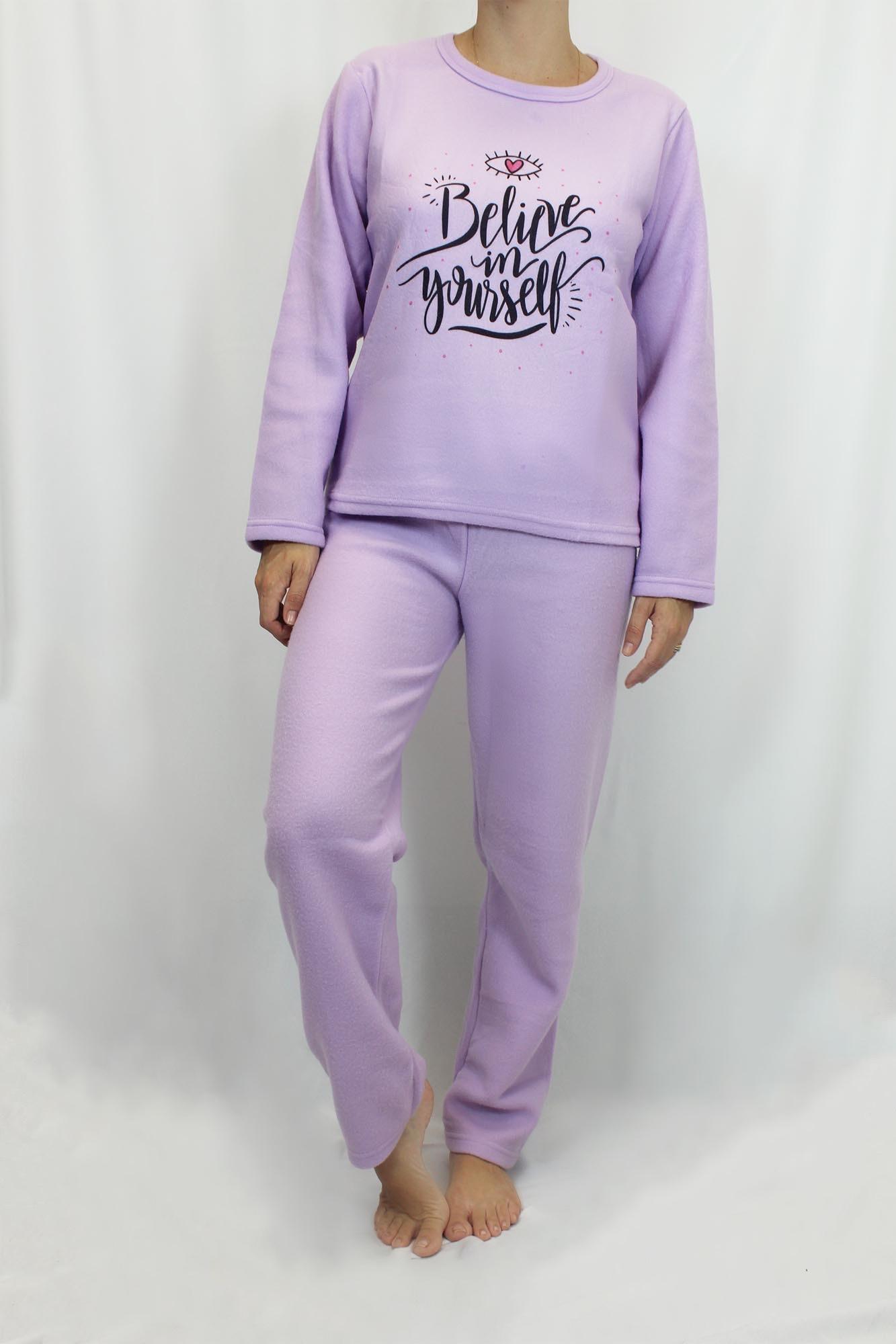 Pijama de Soft Feminino - Tamanho GG