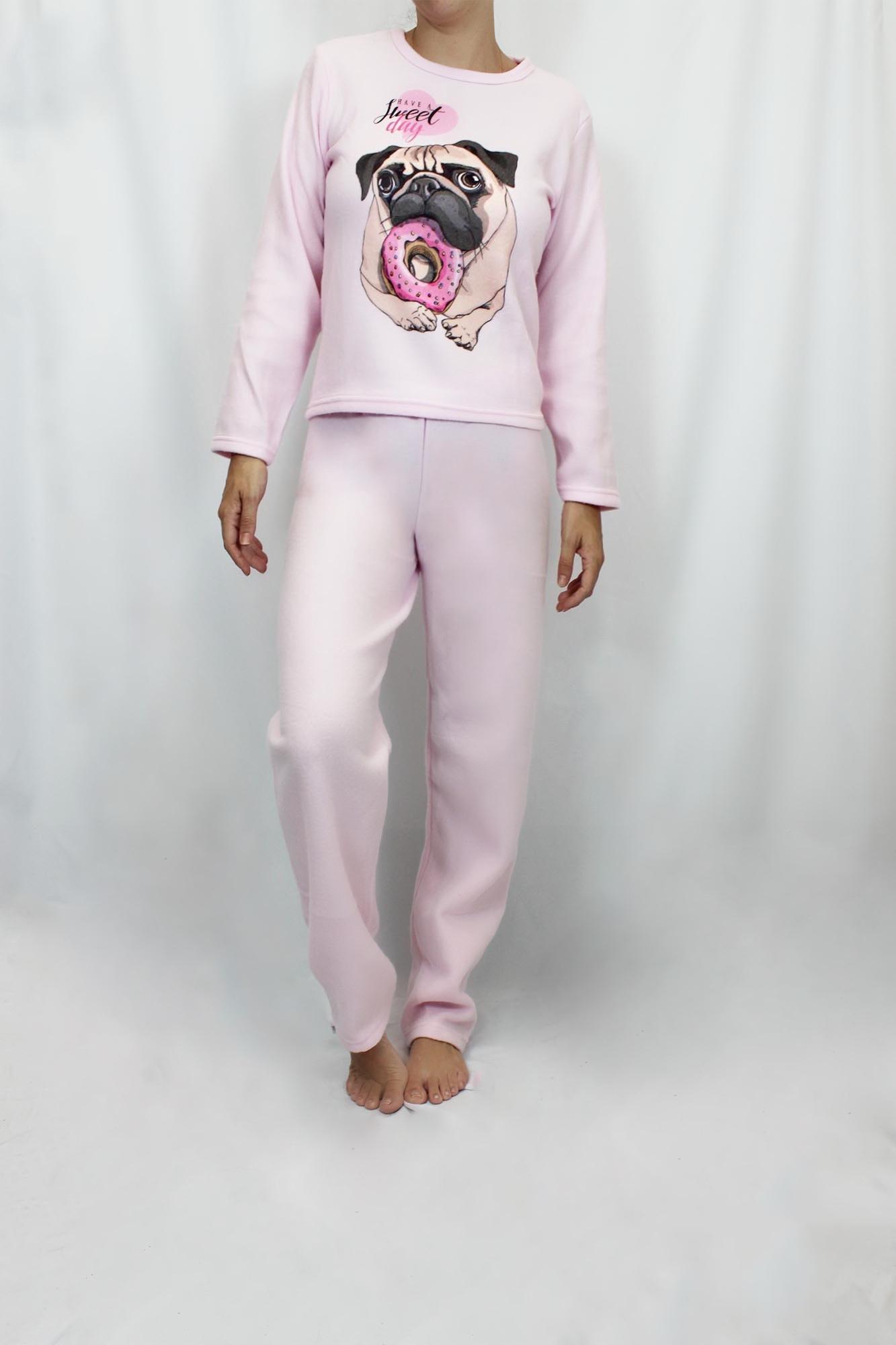 Pijama de Soft Feminino - Tamanho M
