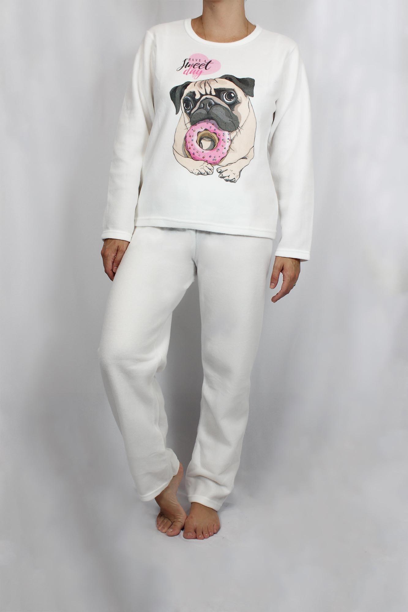 Pijama de Soft Feminino - Tamanho P ao G1