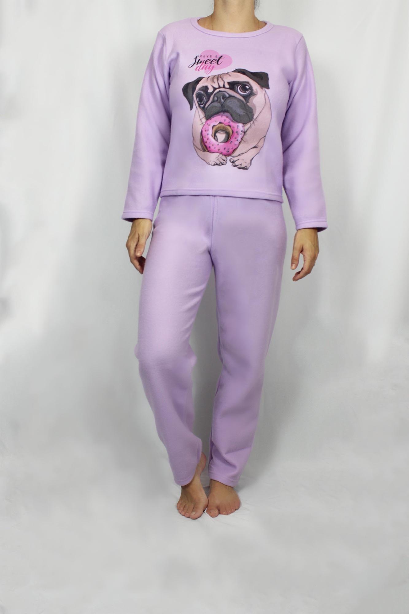 Pijama de Soft Feminino - Tamanho P e M
