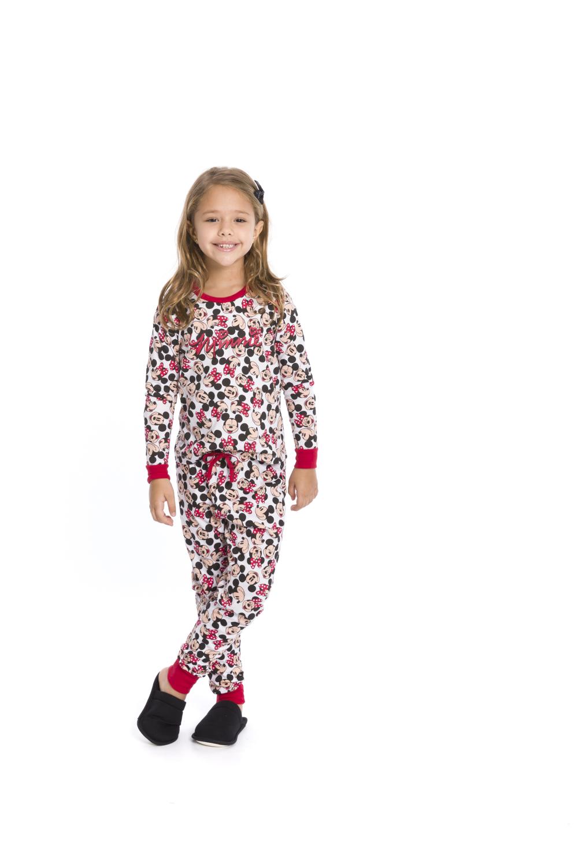 Pijama Infantil e Juvenil Menina Disney (Produto Oficial) - Tamanho 4 ao 16