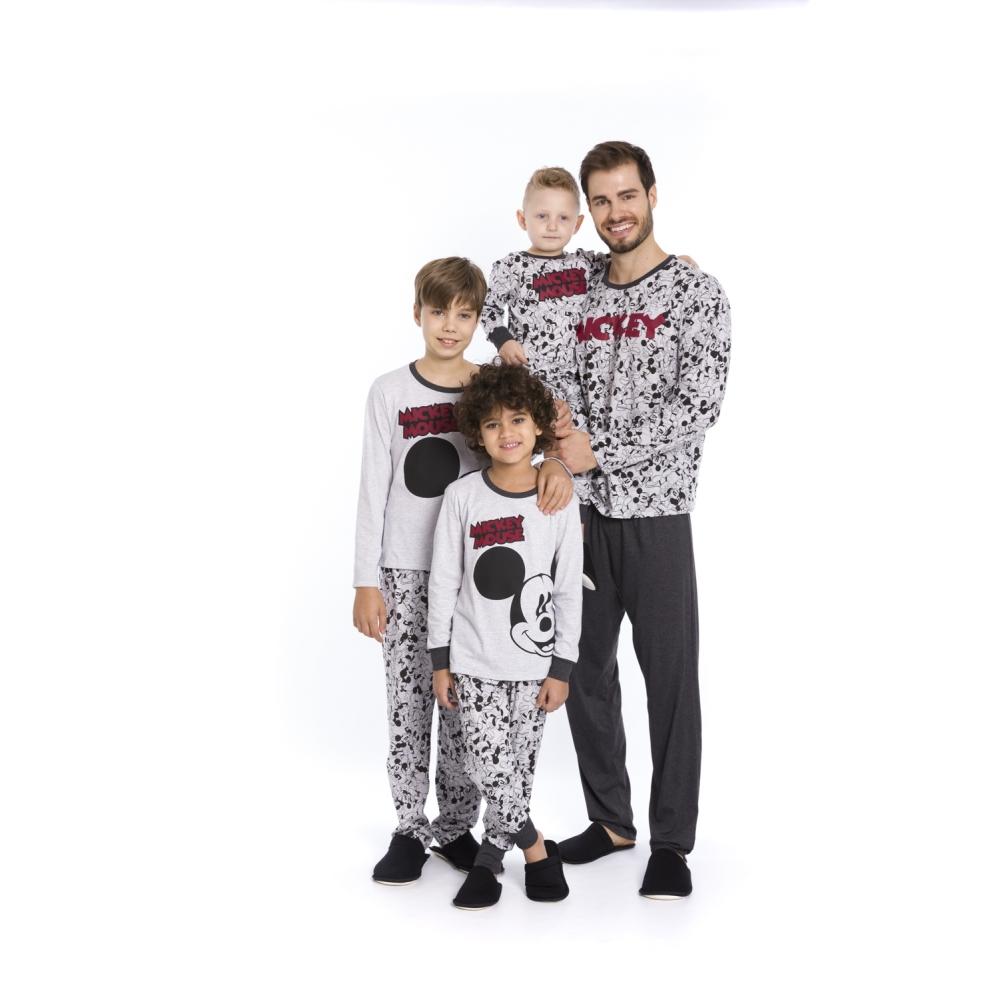 Pijama Infantil e Juvenil Menino Disney (Produto Oficial) - Tamanho 4 ao 16