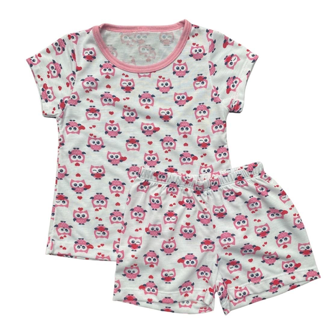 Pijama Infantil Menina - Tamanho 1 e 3