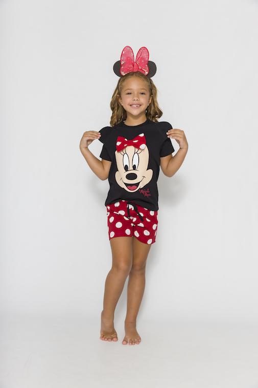 Pijama Infantil Menina Disney (Produto Oficial) - Tamanho 4 ao 10