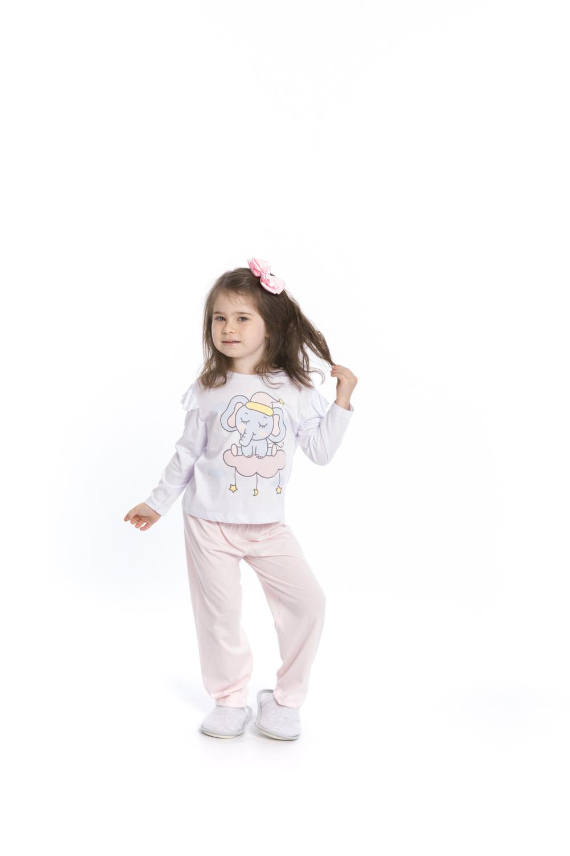 Pijama Infantil Menina Elefantinho - Tamanho 1 ao 3
