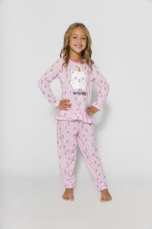 Pijama Infantil Menina It's Weekend - Tamanho 4 ao 10