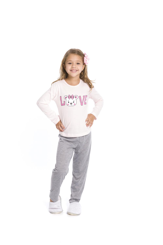 Pijama Infantil Menina Love - Tamanho 4 ao 10