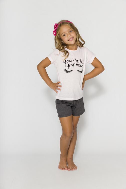 Pijama Infantil Menina Mãe e Filha Good Lashes  - Tamanho 4 ao 10