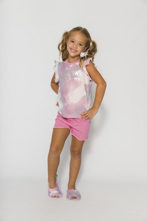Pijama Infantil Menina Mãe e Filha Happiness - Tamanho 4 ao 10