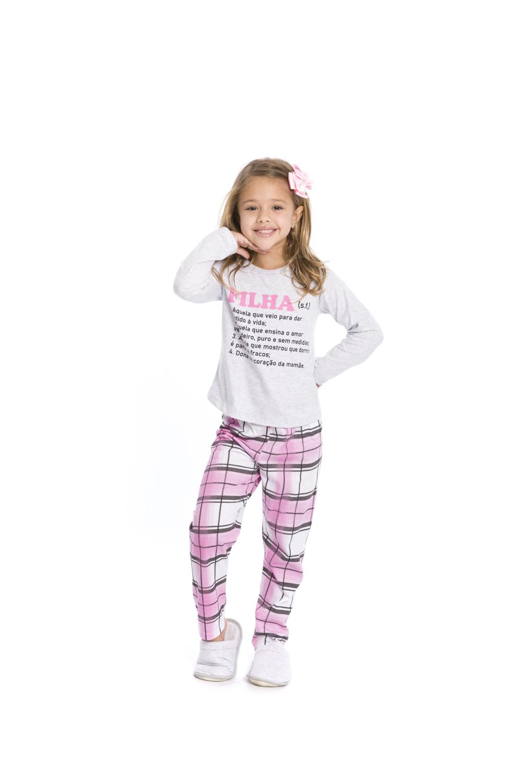 """Pijama Infantil Menina  """"Mãe e Filha"""" - Tamanho 4 ao 10"""