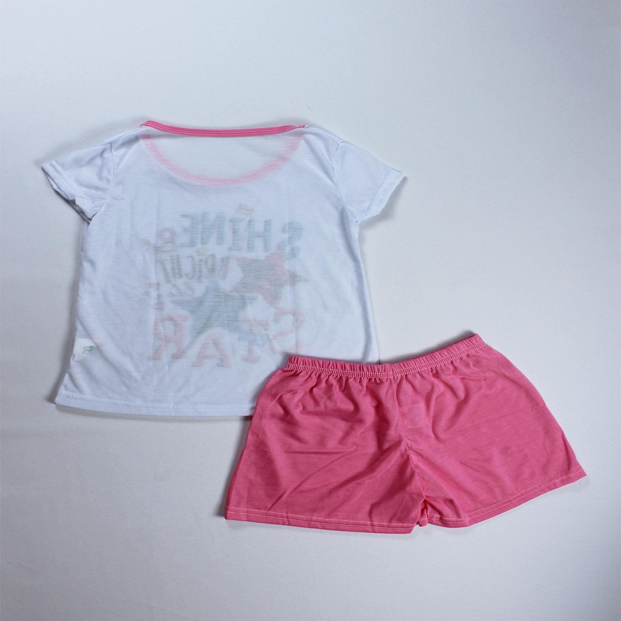 Pijama Infantil Menina - Tamanho 10 e 14