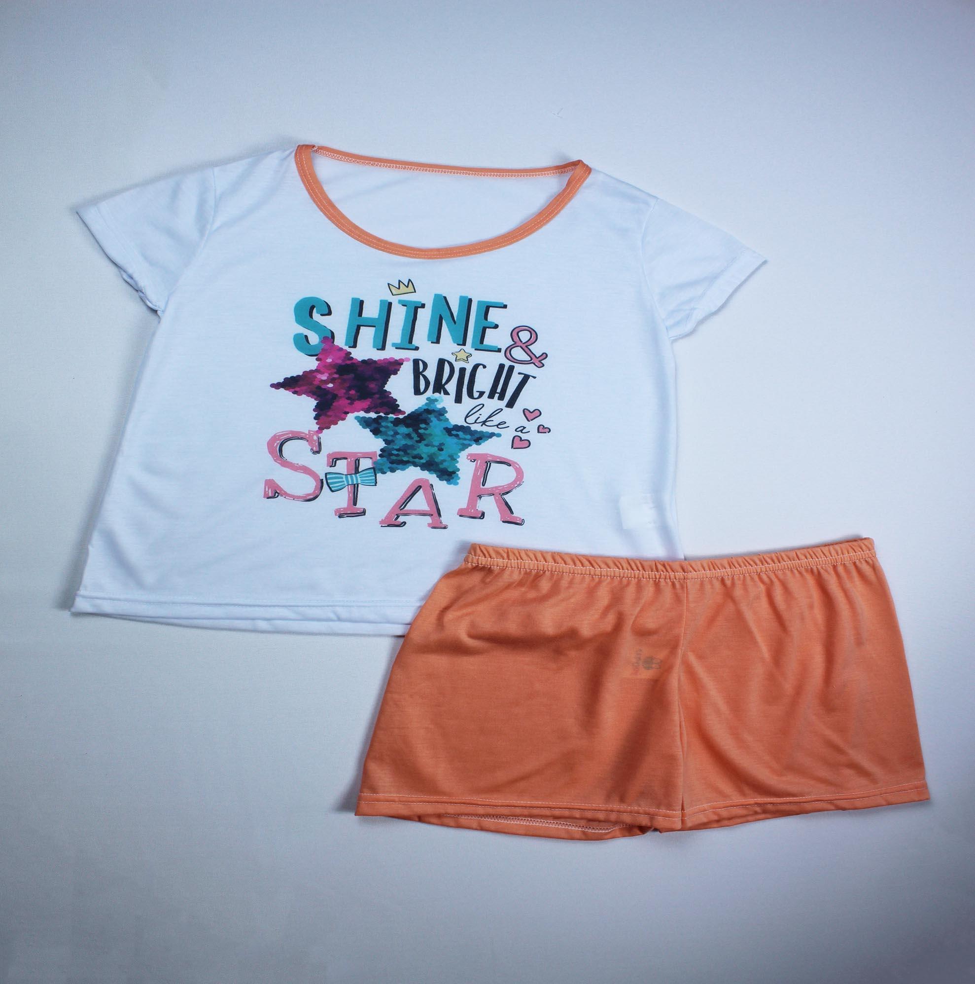 Pijama Infantil Menina - Tamanho 14