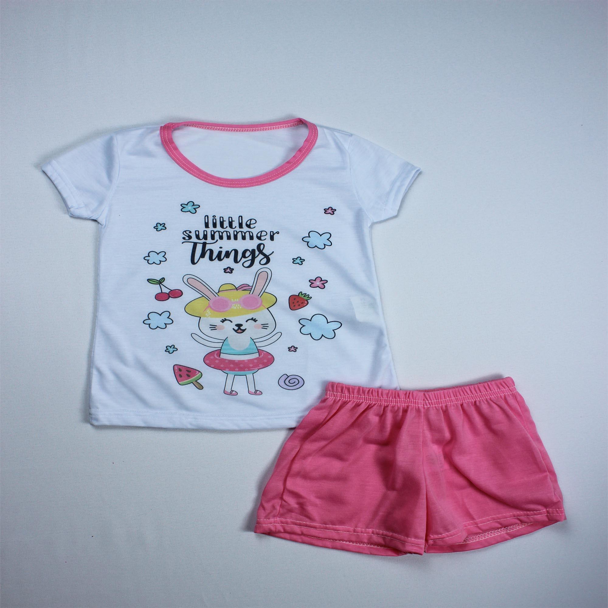 Pijama Infantil Menina - Tamanho 4