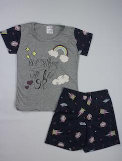 Pijama Infantil Menina - Tamanho 4 e 8