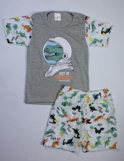 Pijama Infantil Menino - Tamanho 6 e 8