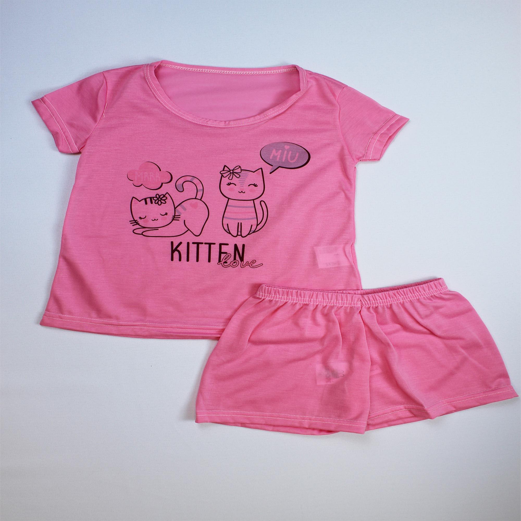 Pijama Infantil Menina - Tamanho 8