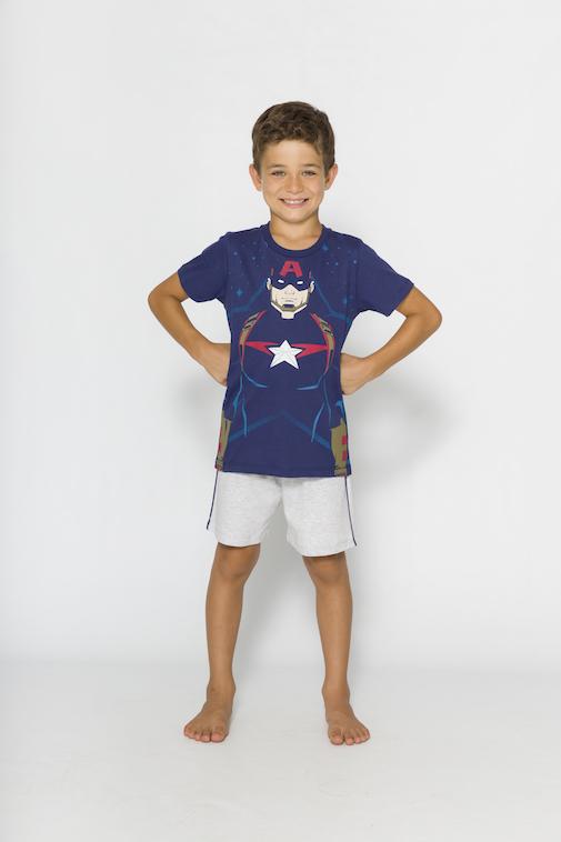 Pijama Infantil Menino Avengers (Produto Oficial) - Tamanho 4 ao 10