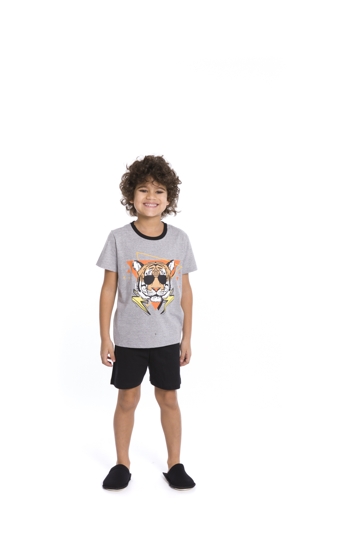Pijama Infantil Menino Cool Tiger - Tamanho 4 ao 10