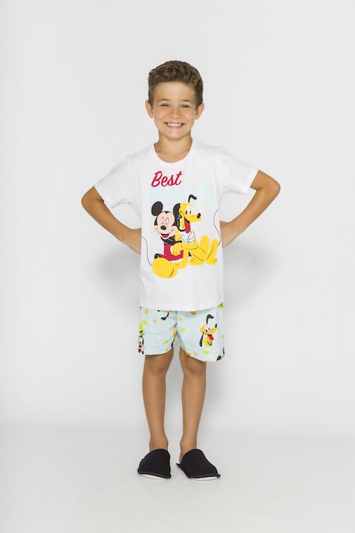Pijama Infantil Menino Disney (Produto Oficial) - Tamanho 4 ao 10