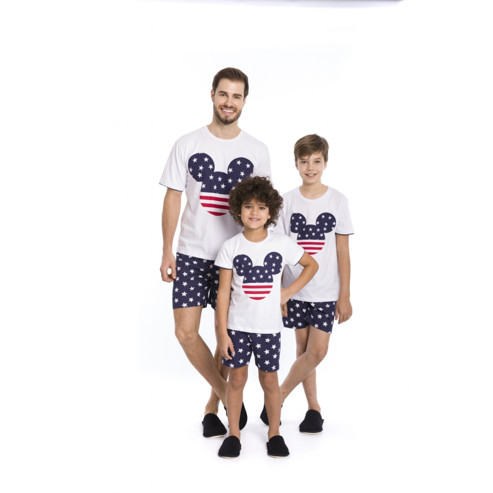 Pijama Infantil Menino Disney - Tamanho 4 ao 10
