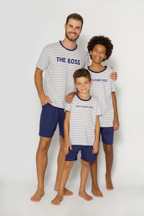 Pijama Infantil Menino Pai e Filho The Future Boss - Tamanho 4 ao 10