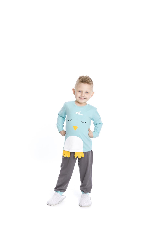 Pijama Infantil Menino Pássaro - Tamanho 1 ao 3