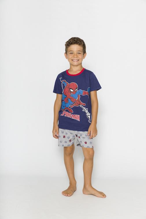 Pijama Infantil Menino Spider Man (Produto Oficial) - Tamanho 4 ao 10