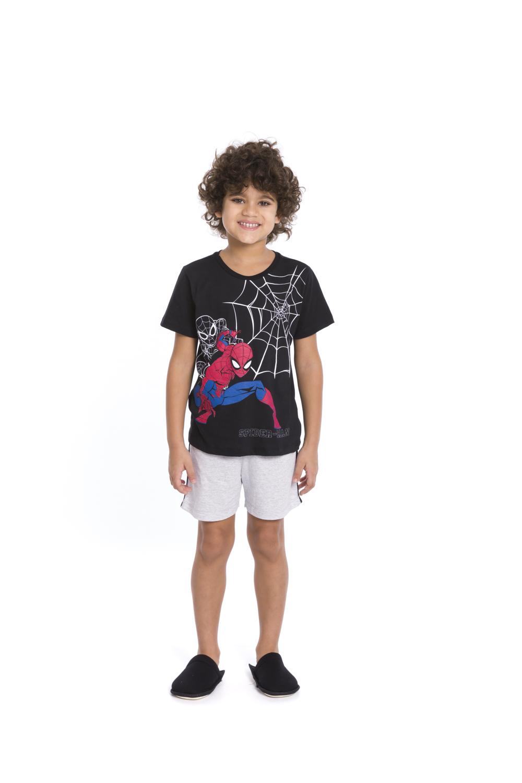 Pijama Infantil Menino Spider-Man (Produto Oficial) - Tamanho 4 ao 10