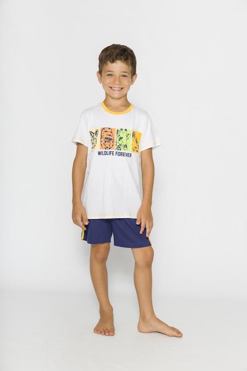 Pijama Infantil Menino Wild & Free - Tamanho 4 ao 10