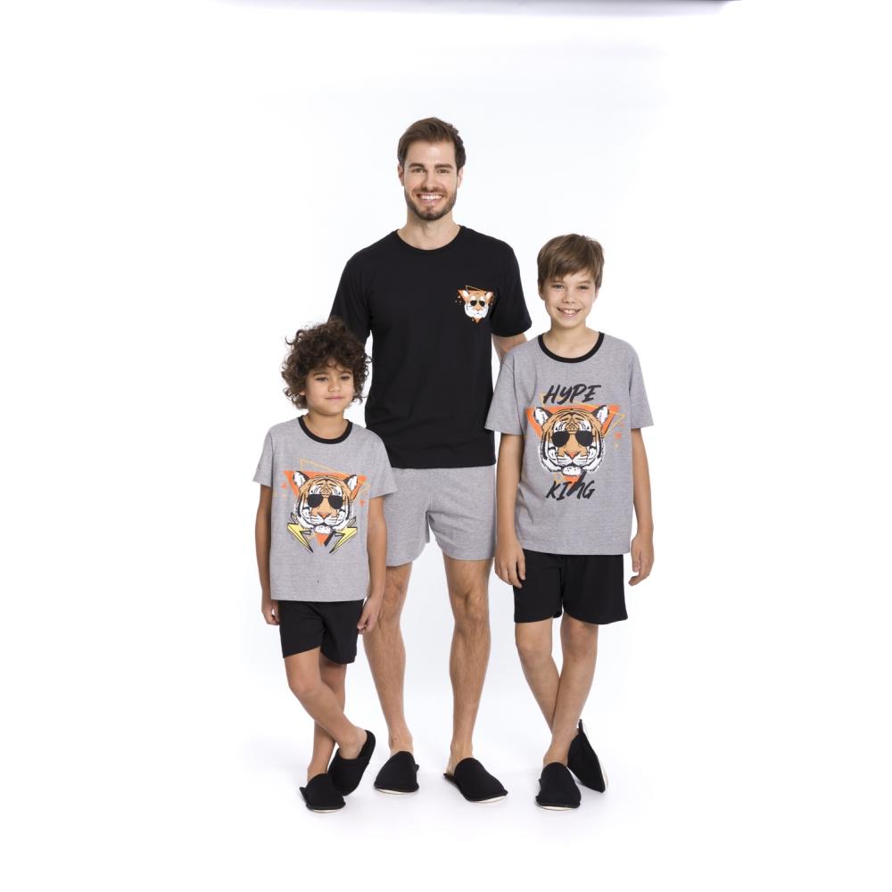 Pijama Juvenil Menino Cool Tiger - Tamanho 12 ao 16