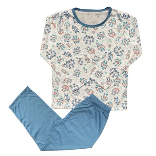 Pijama Manga Longa infantil Menino - Tamanho 6 e 8
