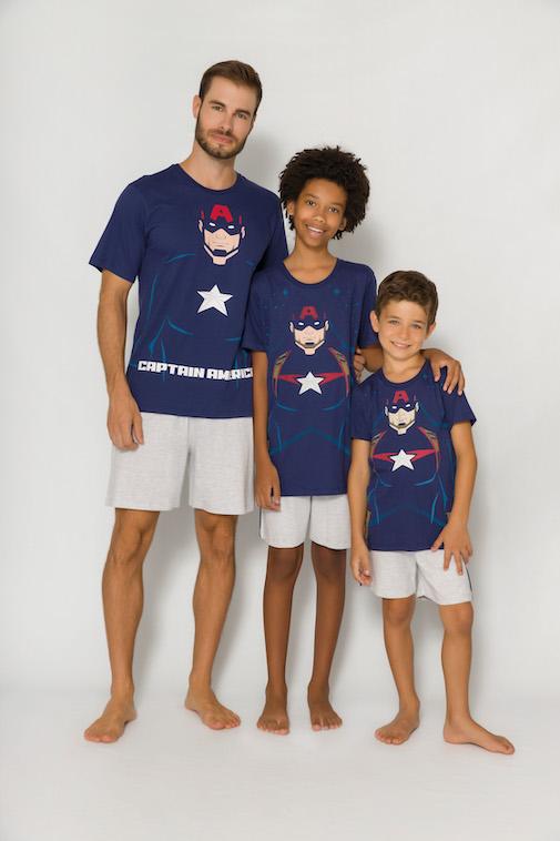 Pijama Masculino Pai e Filho Avengers (Produto Oficial) - Tamanho P ao GG